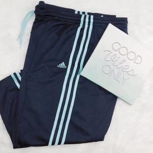 Adidas Capri Crop workout pants Size XL Gray